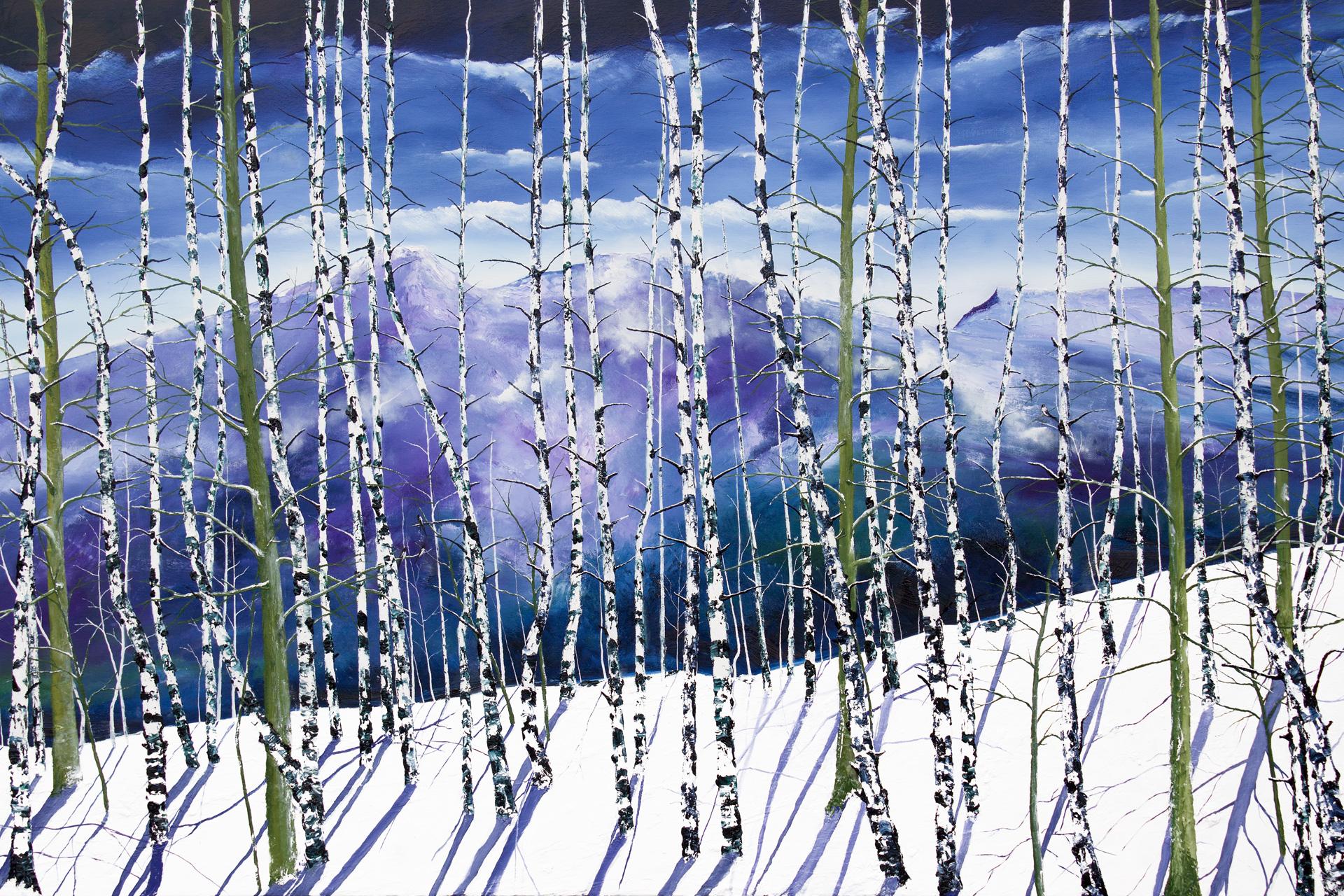 Winter Birches by David J Williams